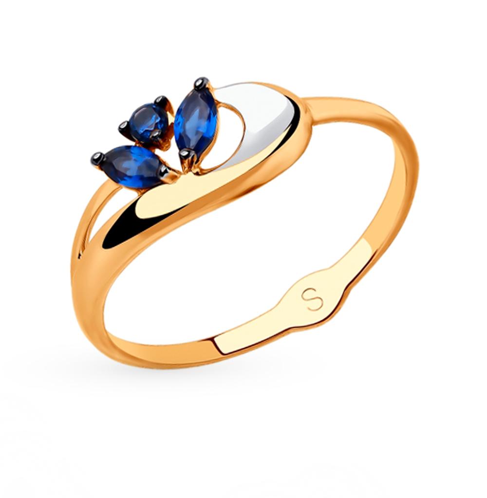 Фото «Золотое кольцо с фианитами SOKOLOV 018058»
