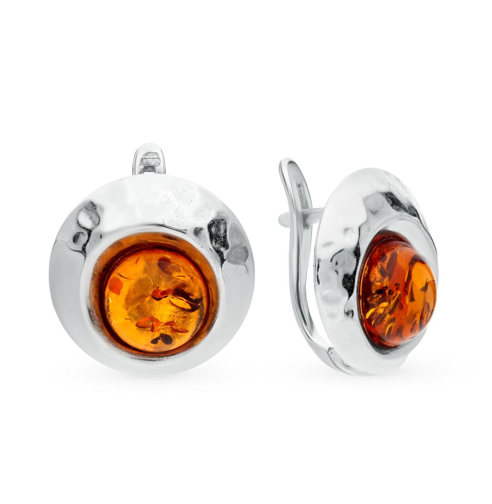 Фото «серебряные серьги с янтарем»
