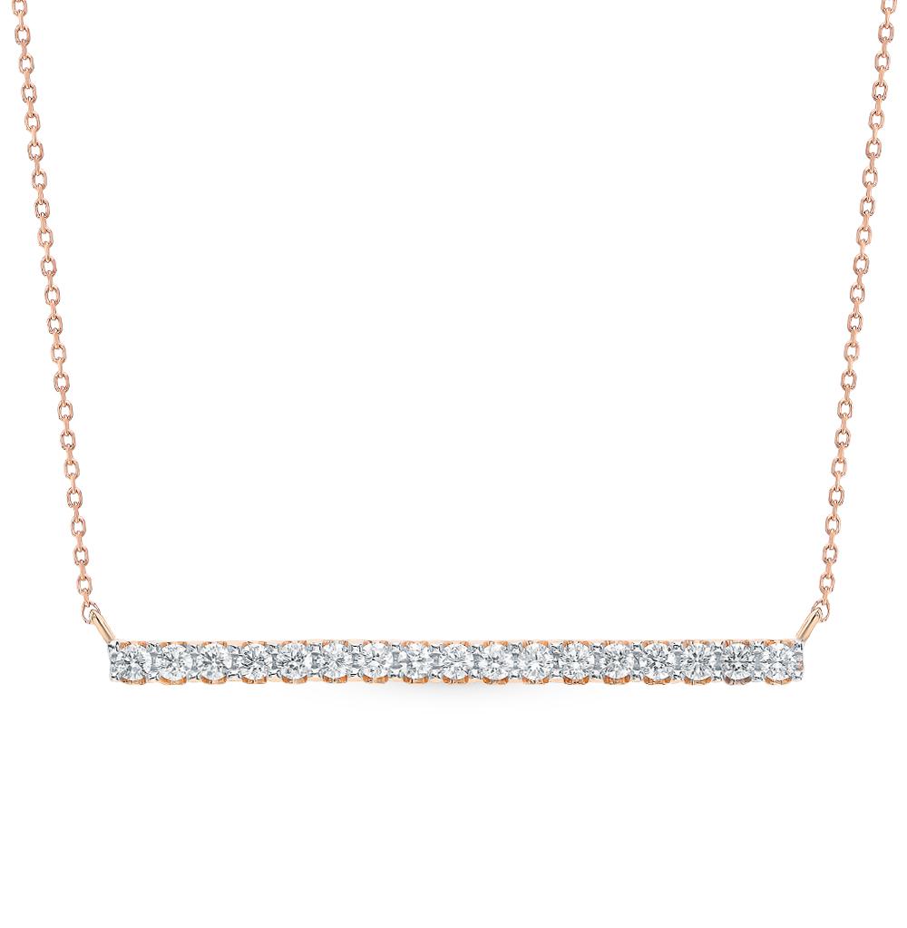 Золотое шейное украшение с бриллиантами в Санкт-Петербурге