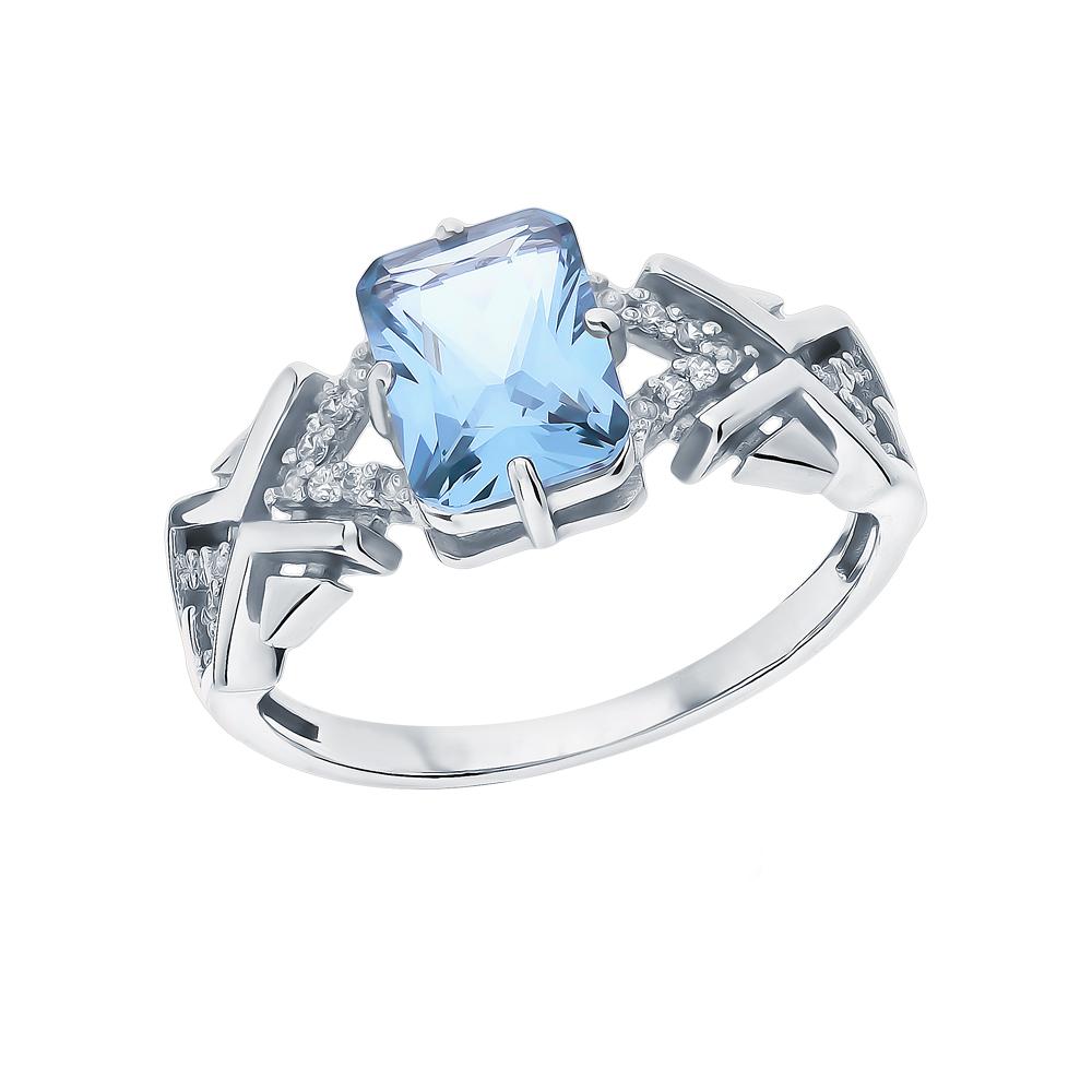 Фото «Серебряное кольцо с турмалинами и фианитами»