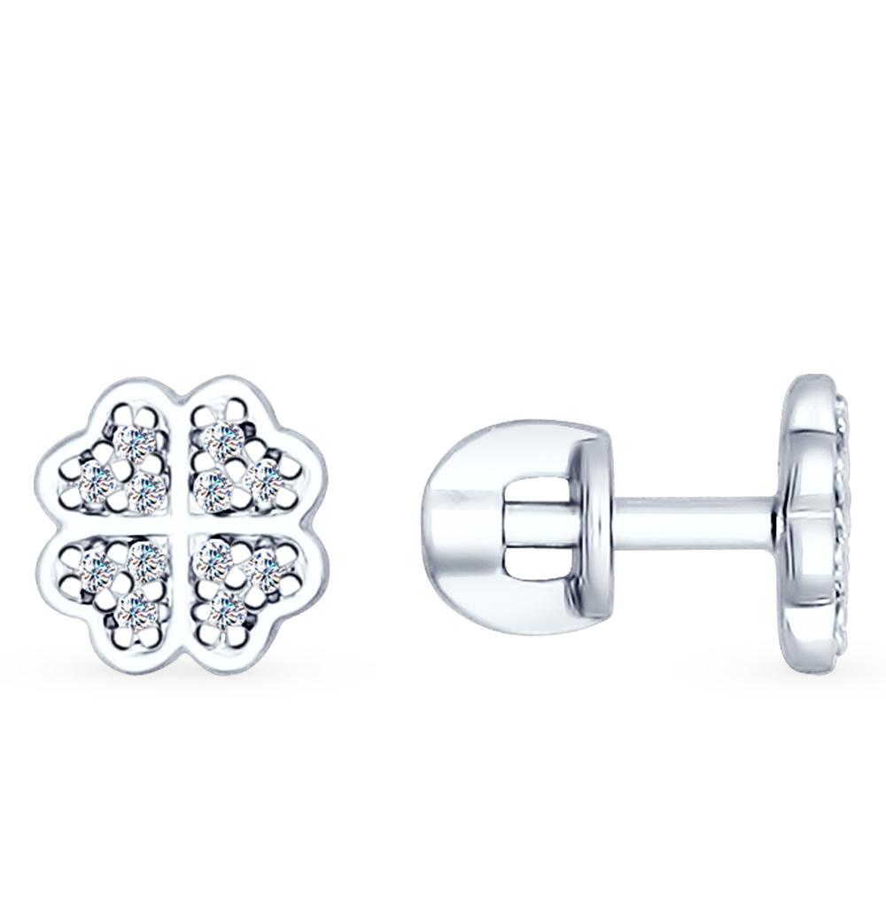 серебряные серьги с фианитами SOKOLOV 94022260