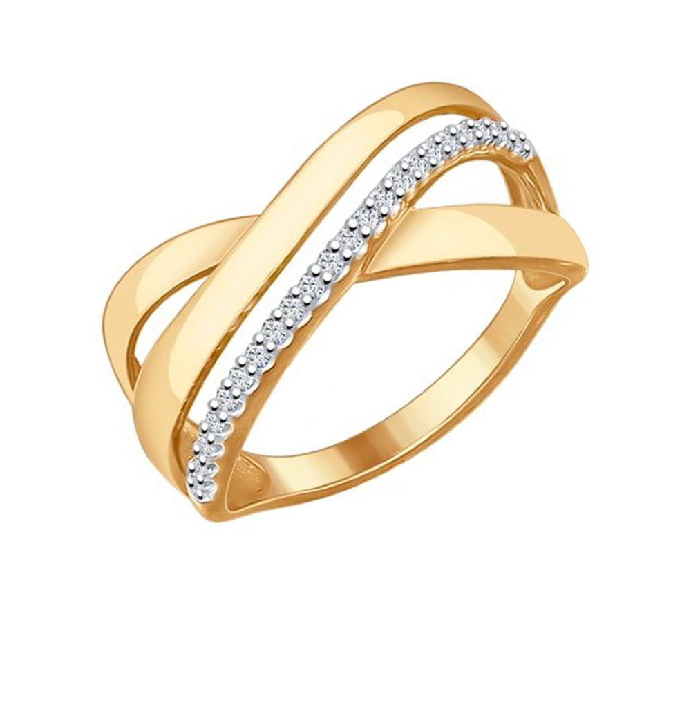 Серебряное кольцо с фианитами SOKOLOV 93010580 в Екатеринбурге
