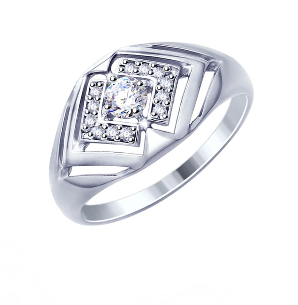 Фото «Серебряное кольцо с фианитами SOKOLOV 94012874»