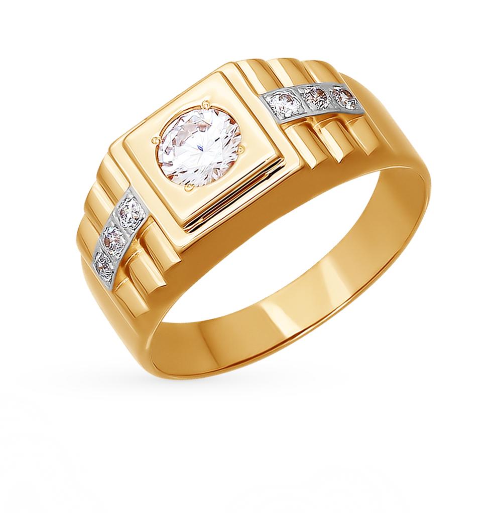 Фото «Золотое кольцо с фианитами SOKOLOV 014780*»