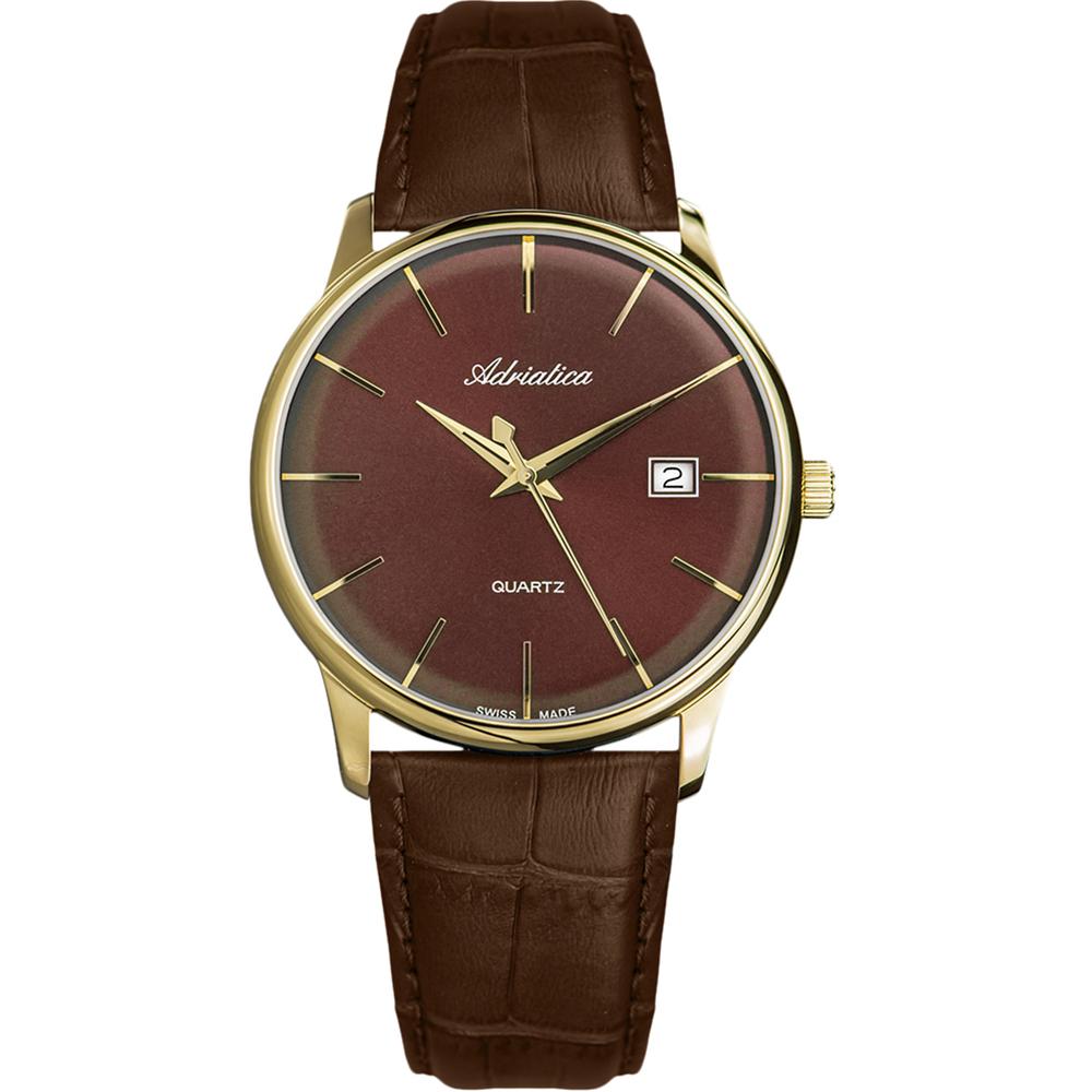 Фото «Мужские часы A8242.121GQ на кожаном ремешке с минеральным стеклом»