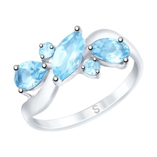 Фото «Серебряное кольцо с топазами SOKOLOV 92011656»