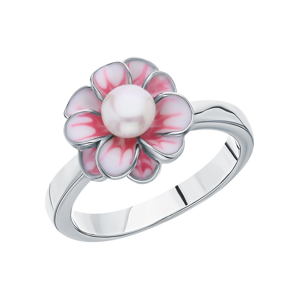 Фото «Серебряное кольцо с жемчугом и эмалью»