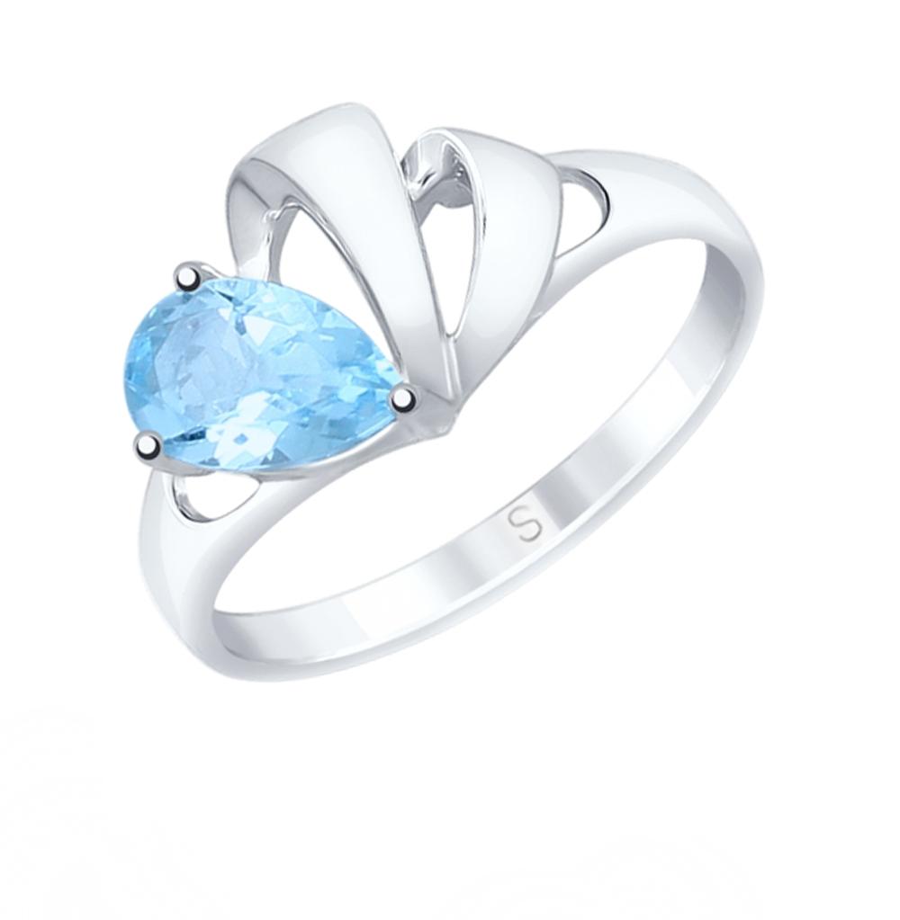 серебряное кольцо с топазами SOKOLOV 92011581