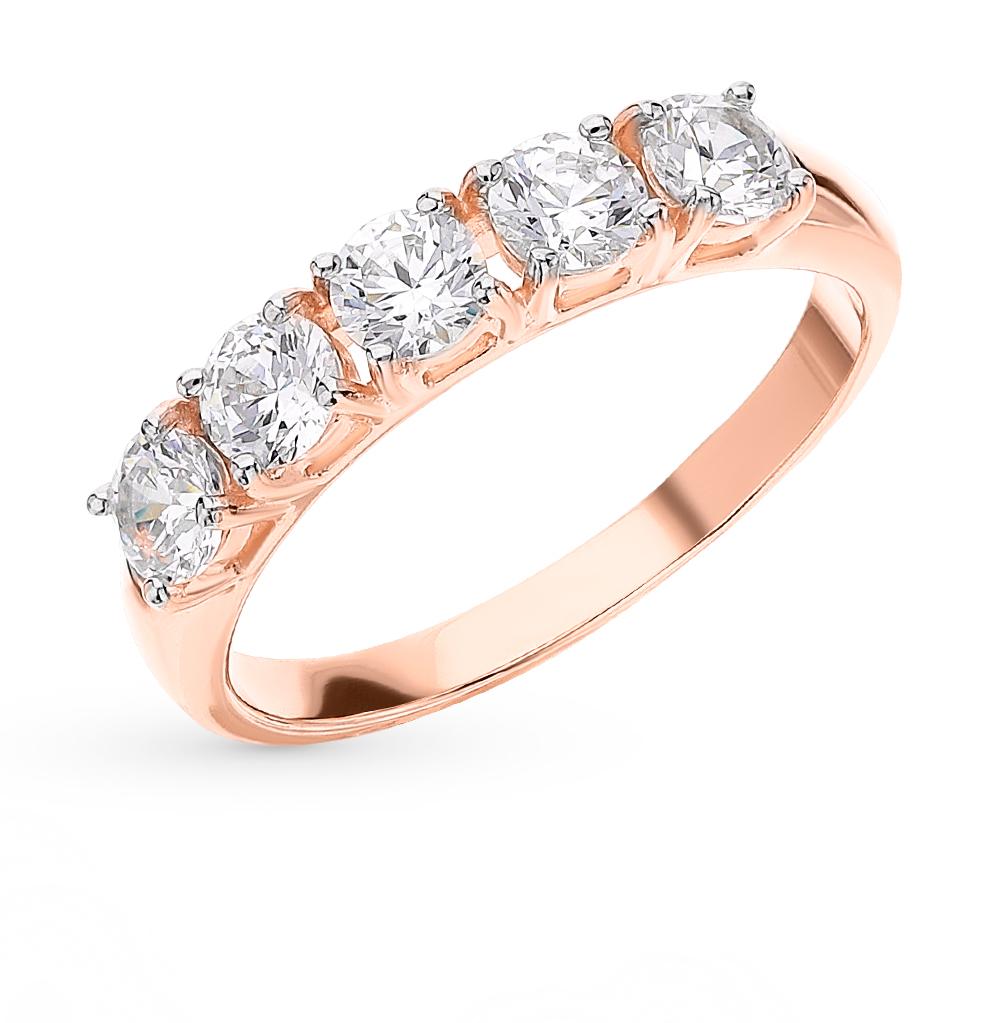 Фото «Золотое кольцо с фианитами SOKOLOV 81010444*»