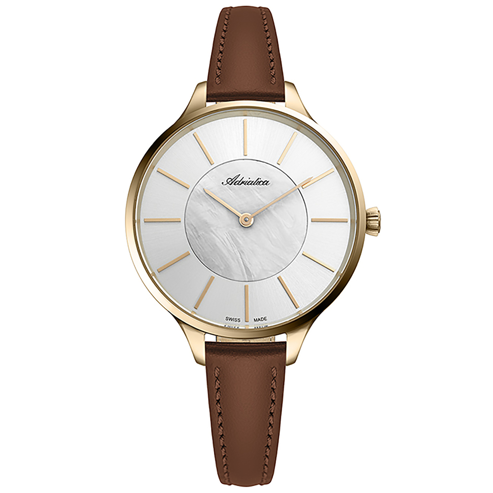 Женские часы A3633.121FQ на кожаном ремешке с минеральным стеклом