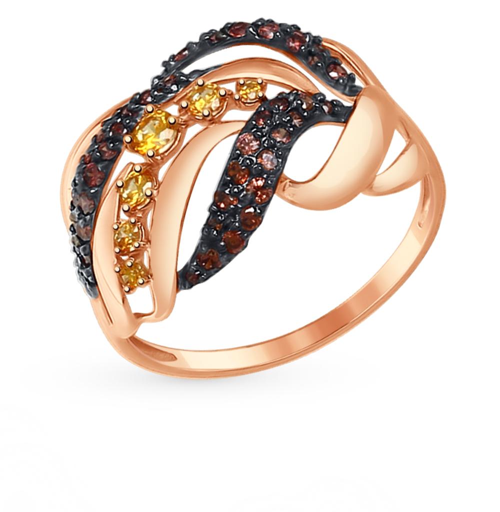 Фото «Золотое кольцо с фианитами SOKOLOV 017367*»