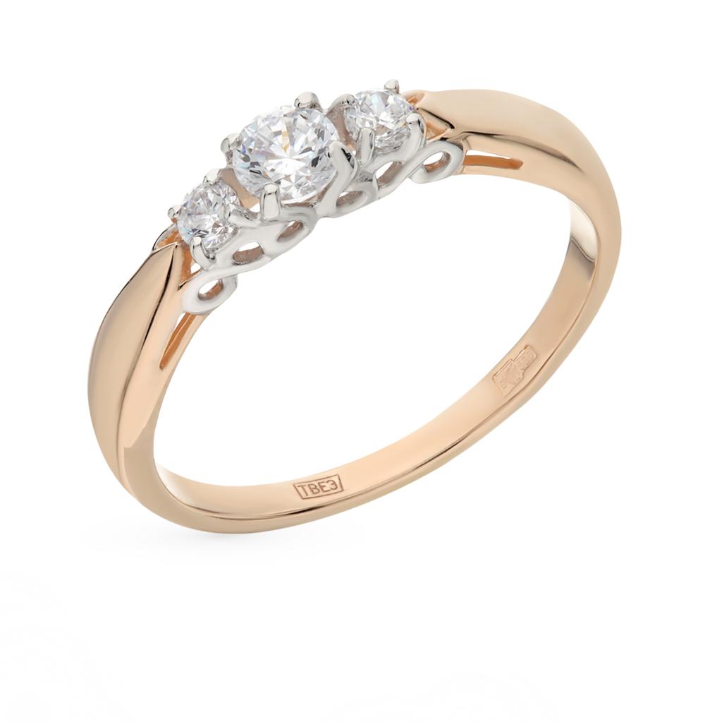 Фото «Золотое кольцо с фианитами SOKOLOV 017491*»