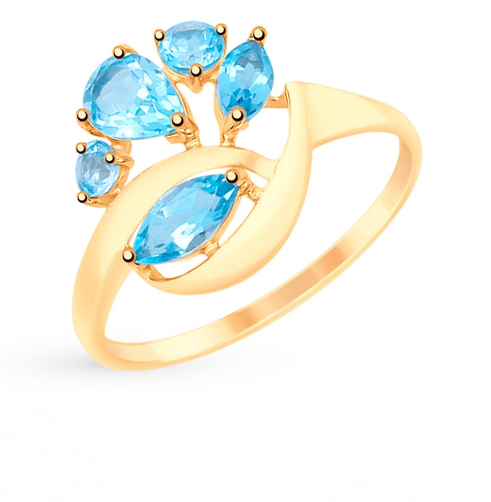 Фото «Золотое кольцо с топазами SOKOLOV 715096*»