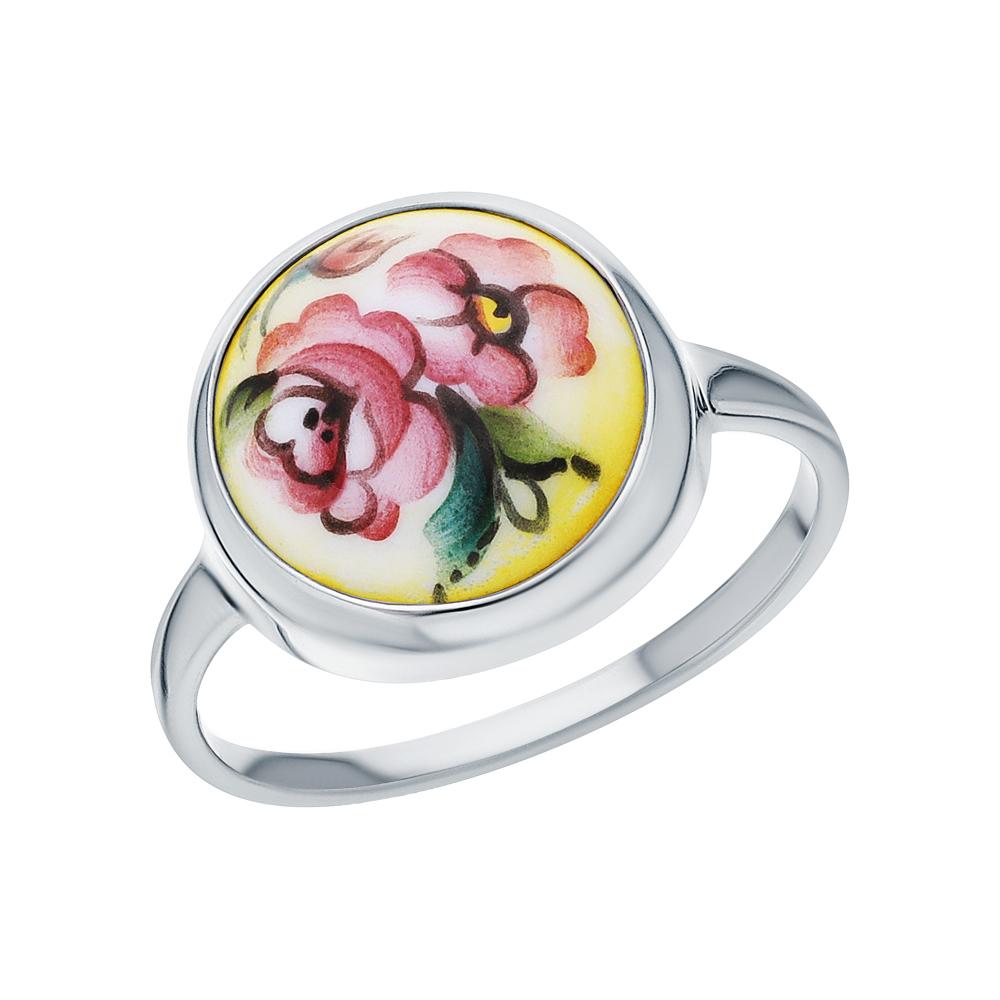 Серебряное кольцо с финифтью в Санкт-Петербурге