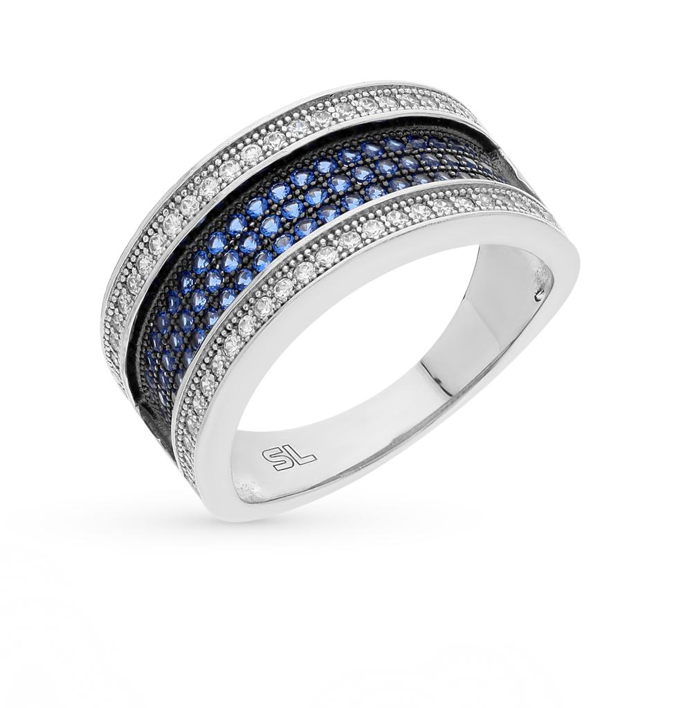 Серебряное кольцо с фианитами и шпинелями синтетическими в Екатеринбурге