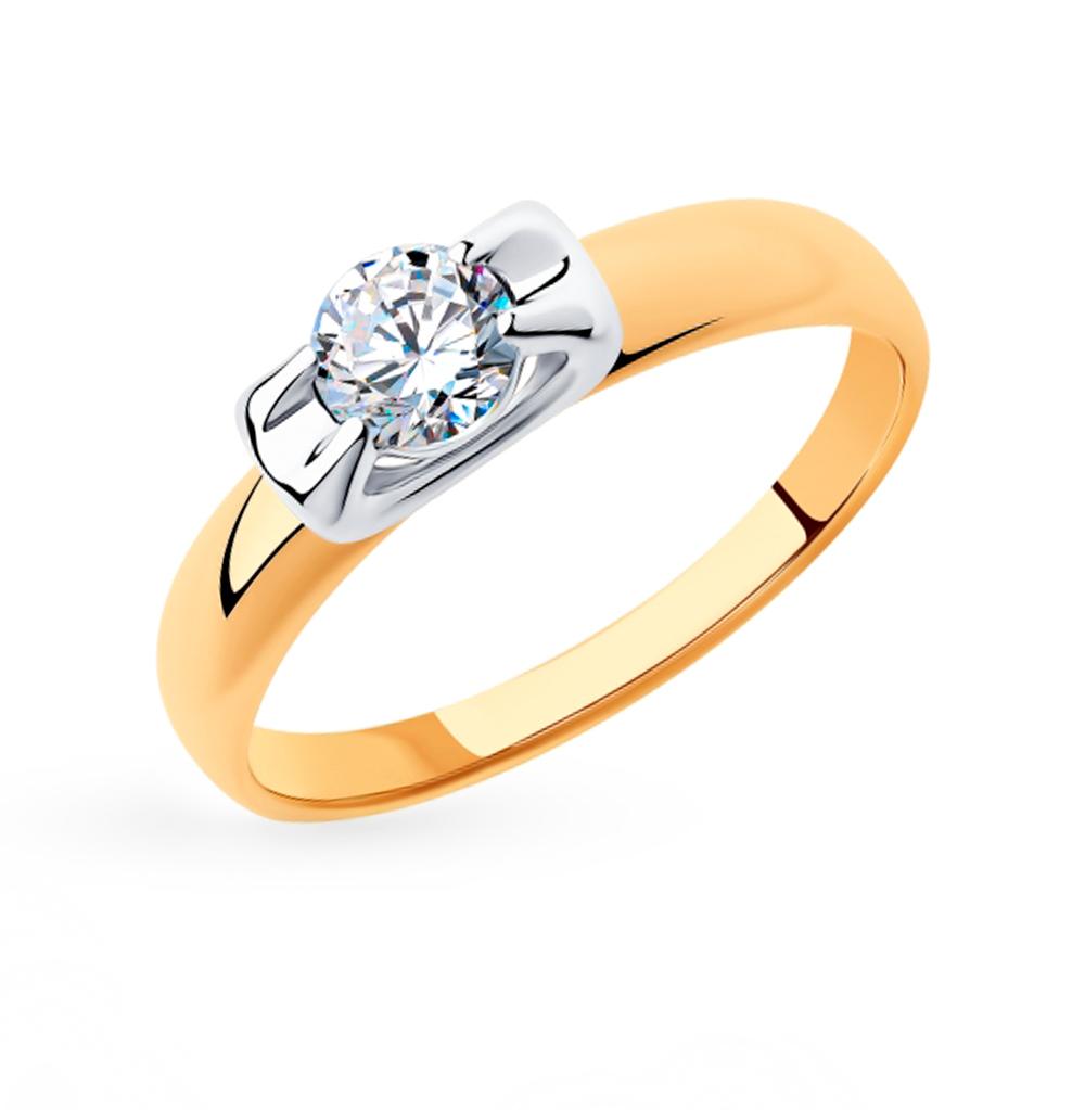 Фото «Золотое кольцо с фианитами SOKOLOV 018311»