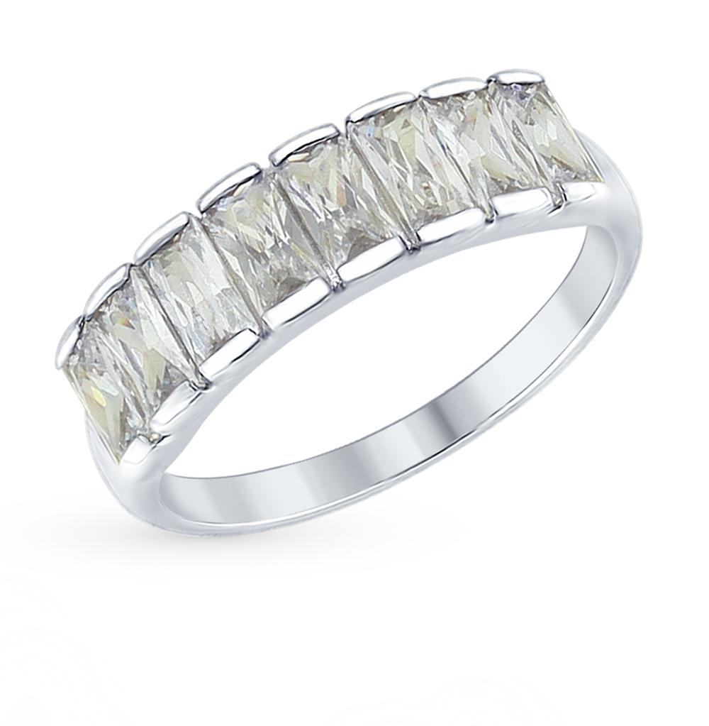 серебряное кольцо с фианитами SOKOLOV 94012563