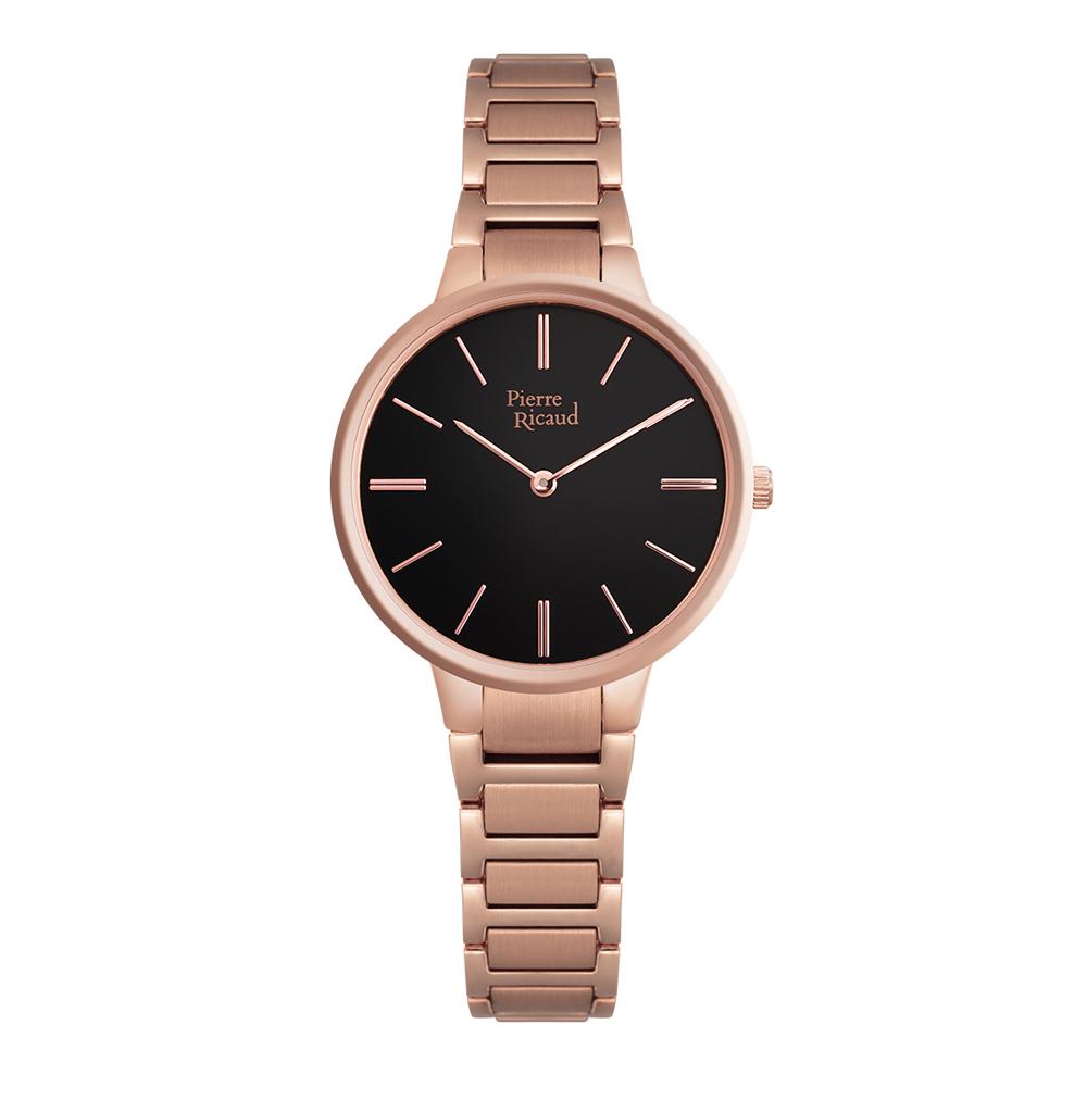 Фото «Женские часы P22034.9114Q на стальном браслете с розовым PVD покрытием с минеральным стеклом»