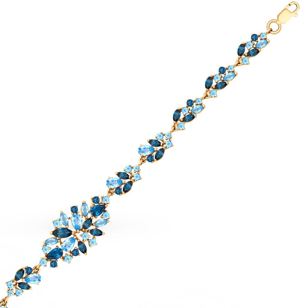 золотой браслет с топазами SOKOLOV 750257*