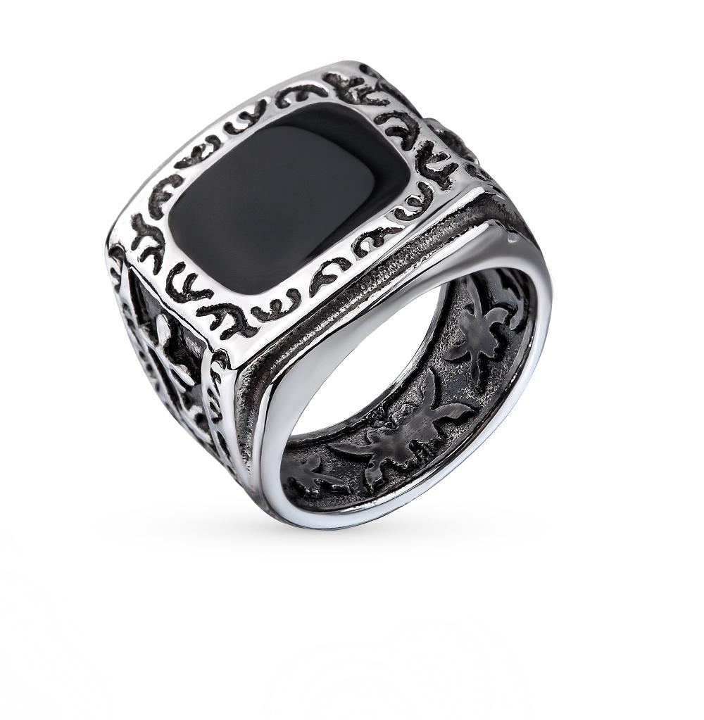 кольцо из стали с эмалью