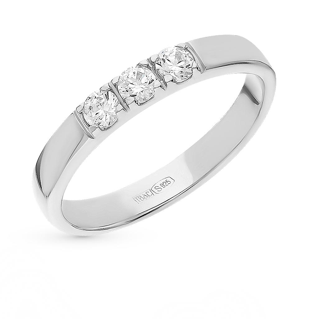 Фото «Серебряное кольцо с фианитами SOKOLOV 89010059»