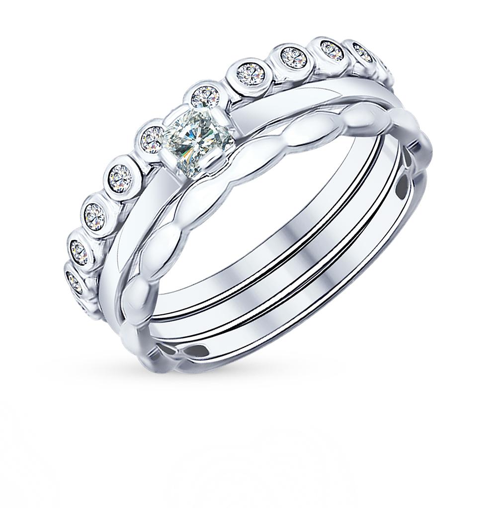 Фото «Серебряное кольцо с фианитами SOKOLOV 94011706»