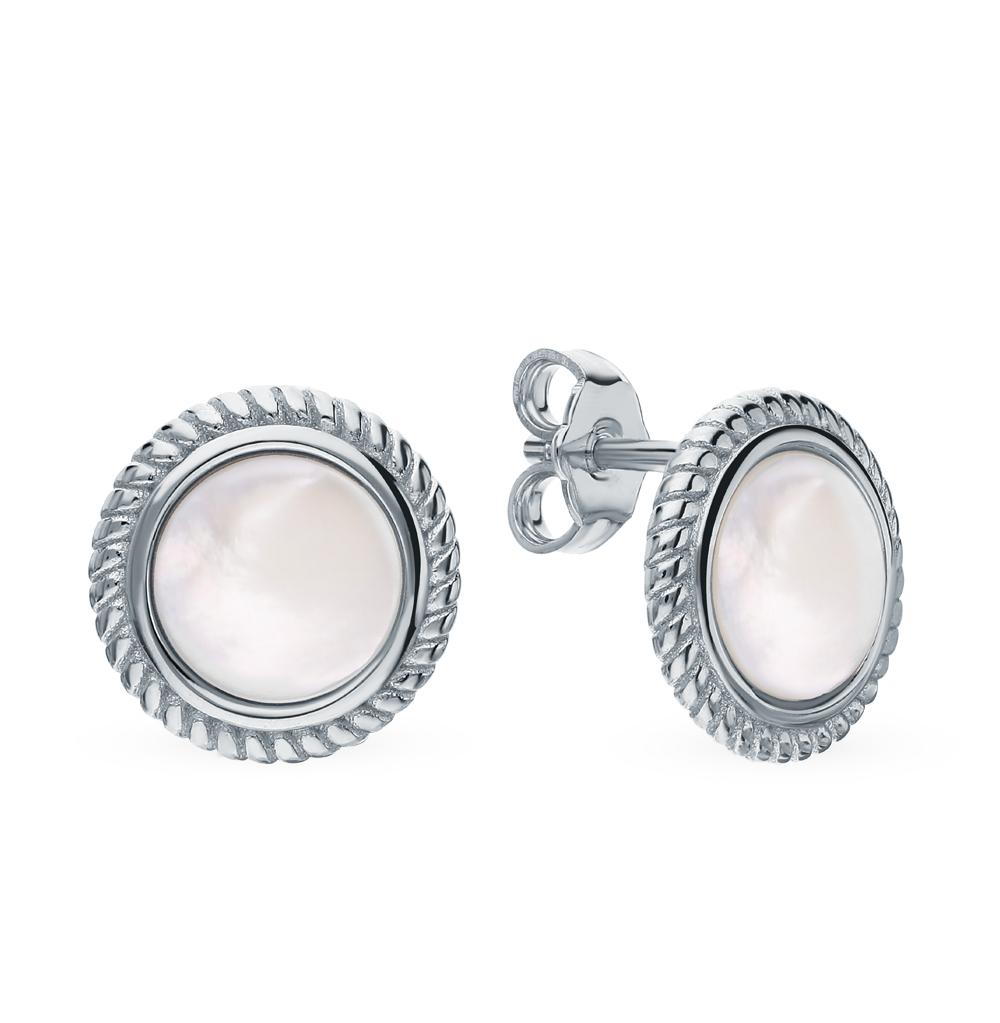 Фото «Серебряные серьги с перламутром»