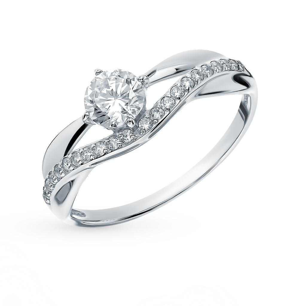 золотое кольцо с фианитами SOKOLOV 017142-3*