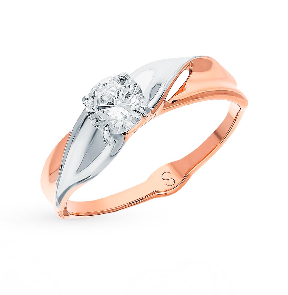золотое кольцо с фианитами SOKOLOV 017933*