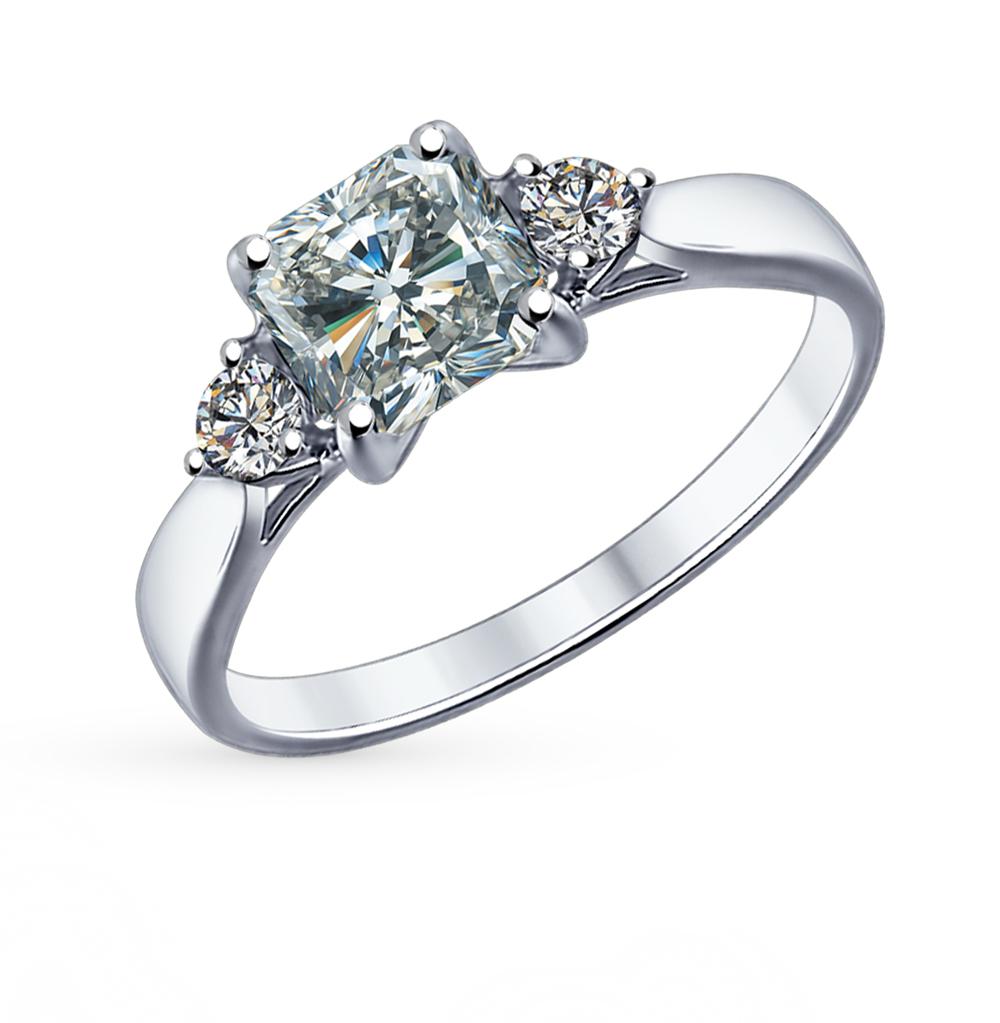 серебряное кольцо с фианитами SOKOLOV 89010033