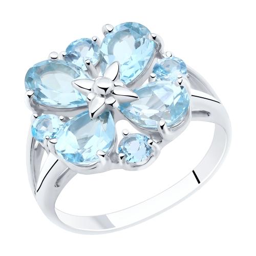 Фото «Серебряное кольцо с топазами SOKOLOV 92011855»