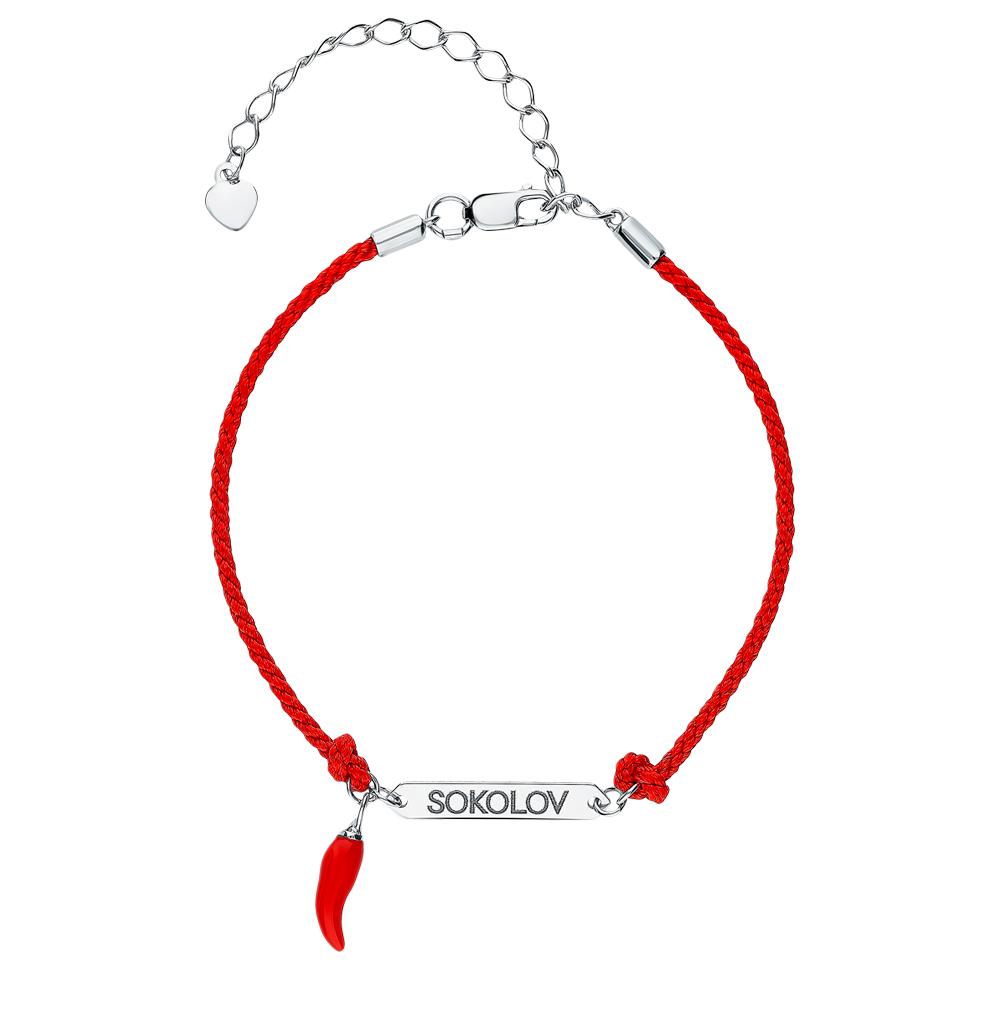 серебряный браслет с эмалью SOKOLOV 94050490
