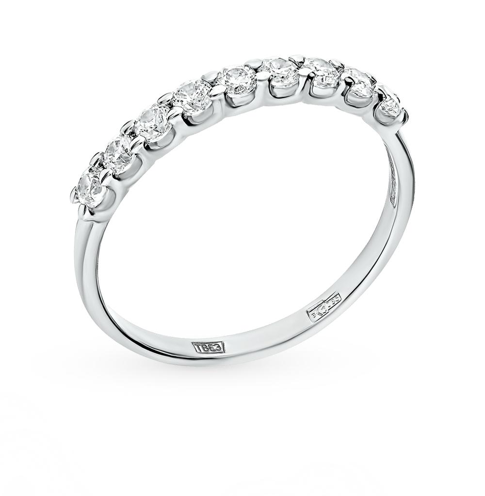 золотое кольцо с фианитами SOKOLOV 017456*