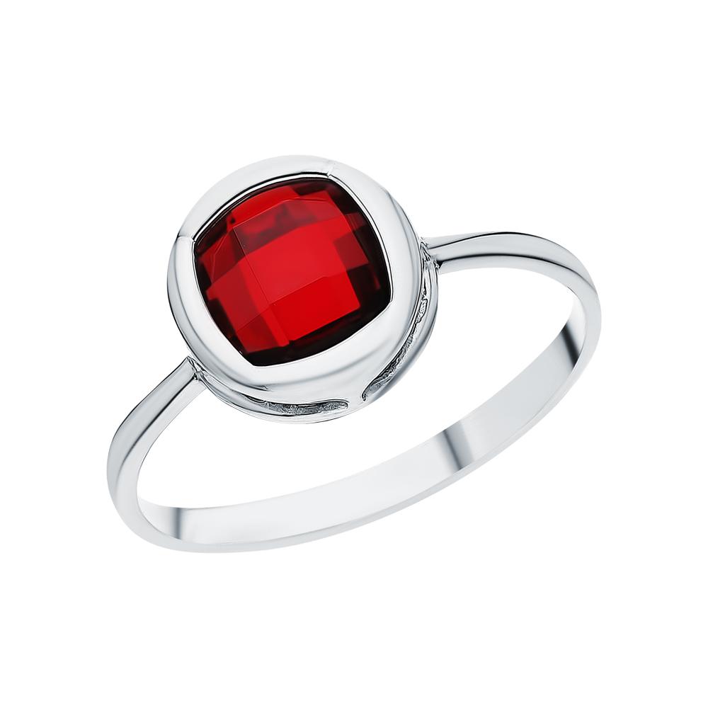 Серебряное кольцо с гранатами синтетическими в Екатеринбурге