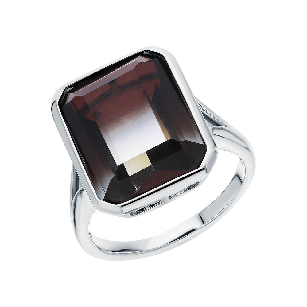 Серебряное кольцо с ситаллами в Екатеринбурге