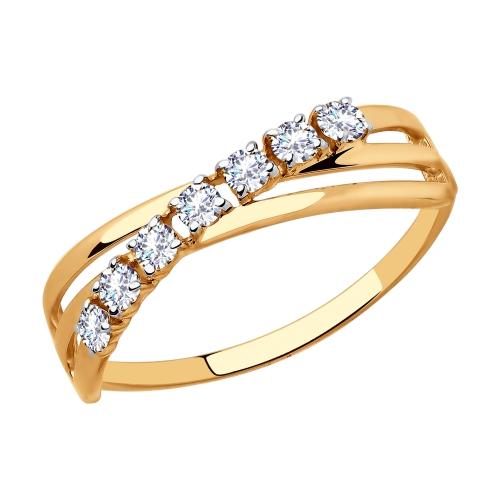 Золотое кольцо с фианитами SOKOLOV 018057* в Екатеринбурге