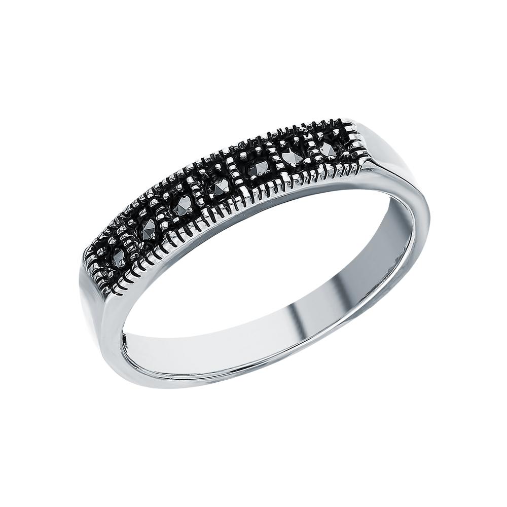 Фото «Серебряное кольцо с марказитами swarovski»
