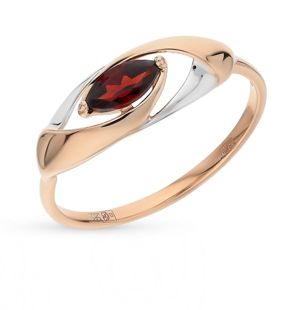 Фото «Золотое кольцо с гранатом SOKOLOV 714634*»
