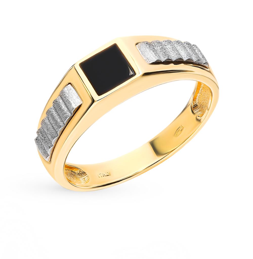 Золотое кольцо с ониксом в Санкт-Петербурге