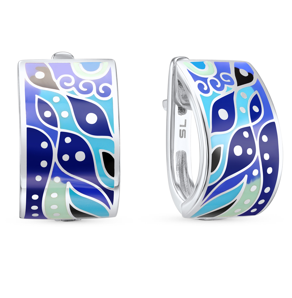 Фото «серебряные серьги с эмалью»