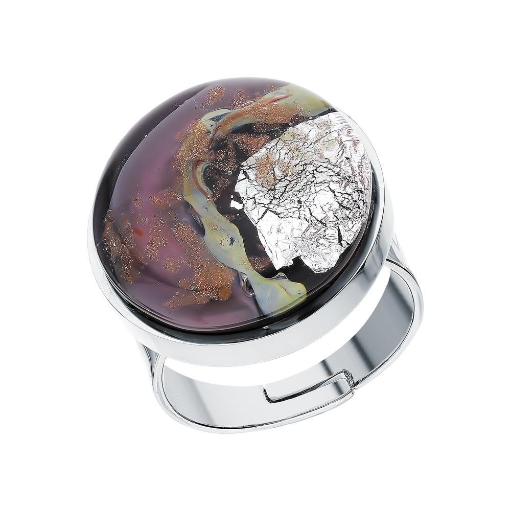 Стальное кольцо с муранскими стёклами в Екатеринбурге