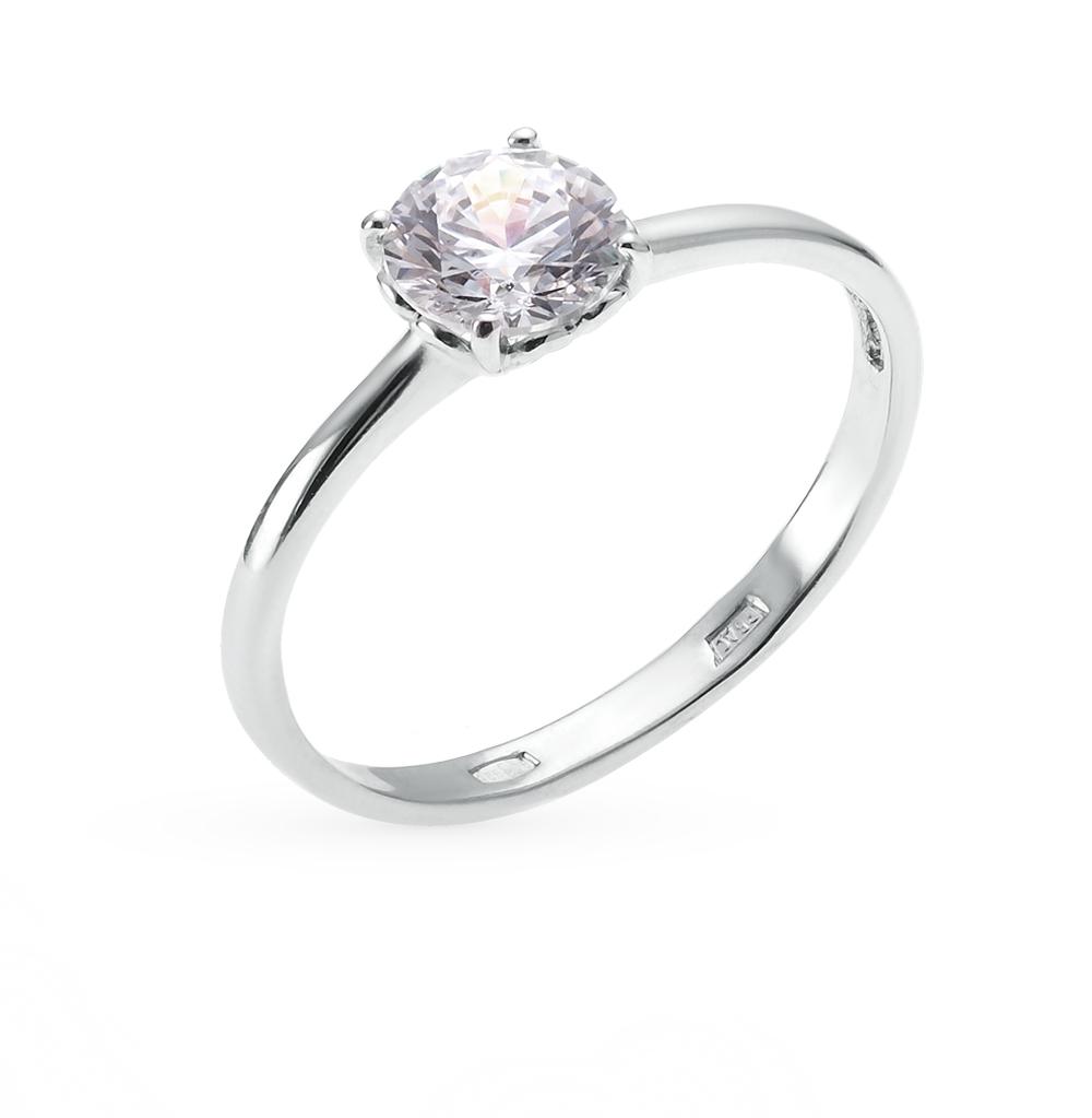 серебряное кольцо с кристаллами SOKOLOV 89010011