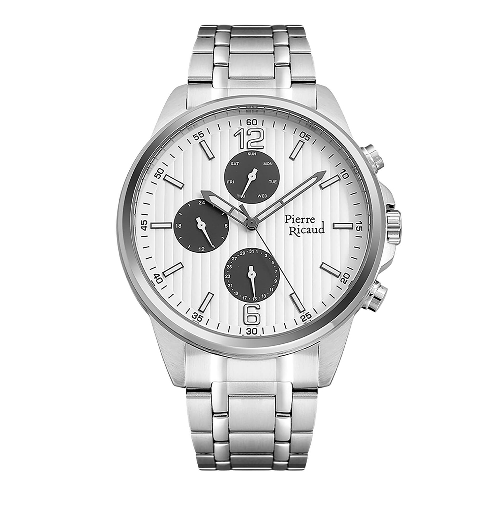 Фото «Мужские кварцевые часы P60025.5153QF на стальном браслете с минеральным стеклом»