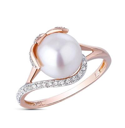 Фото «золото кольцо с жемчугом и бриллиантами»