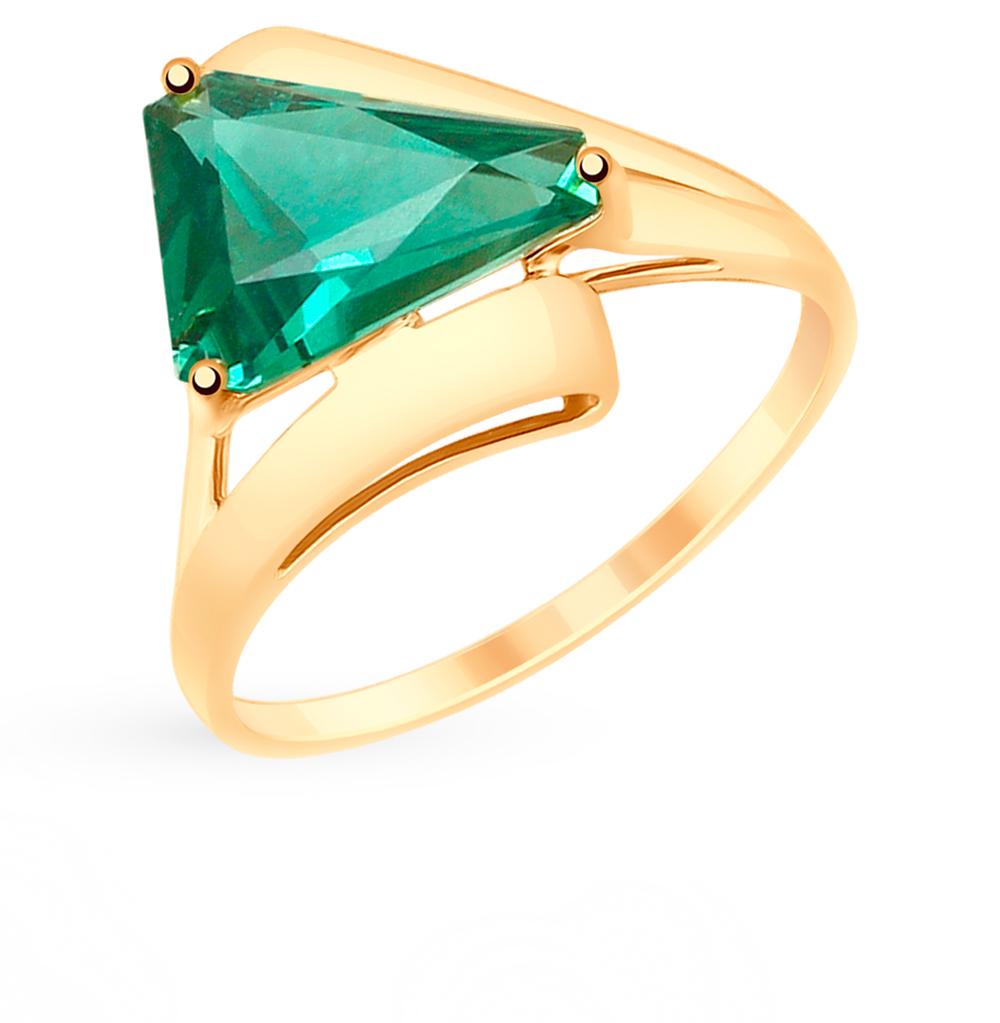 золотое кольцо с кварцем SOKOLOV 715199