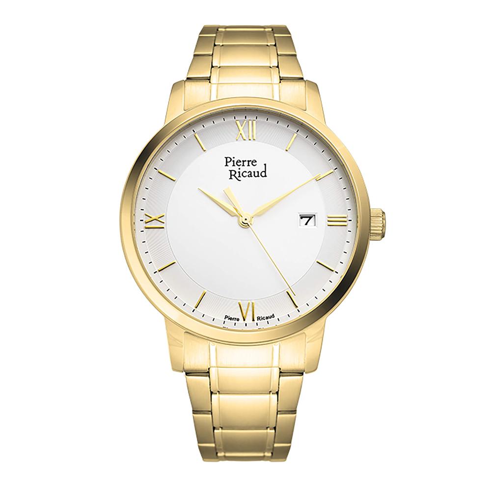 Фото «Мужские кварцевые часы P97239.1163Q на стальном браслете с минеральным стеклом»