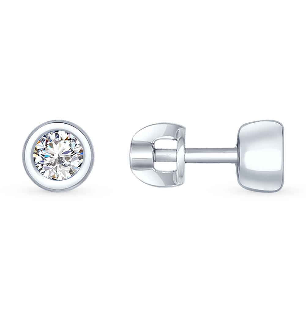 серебряные серьги с фианитами SOKOLOV 94022234