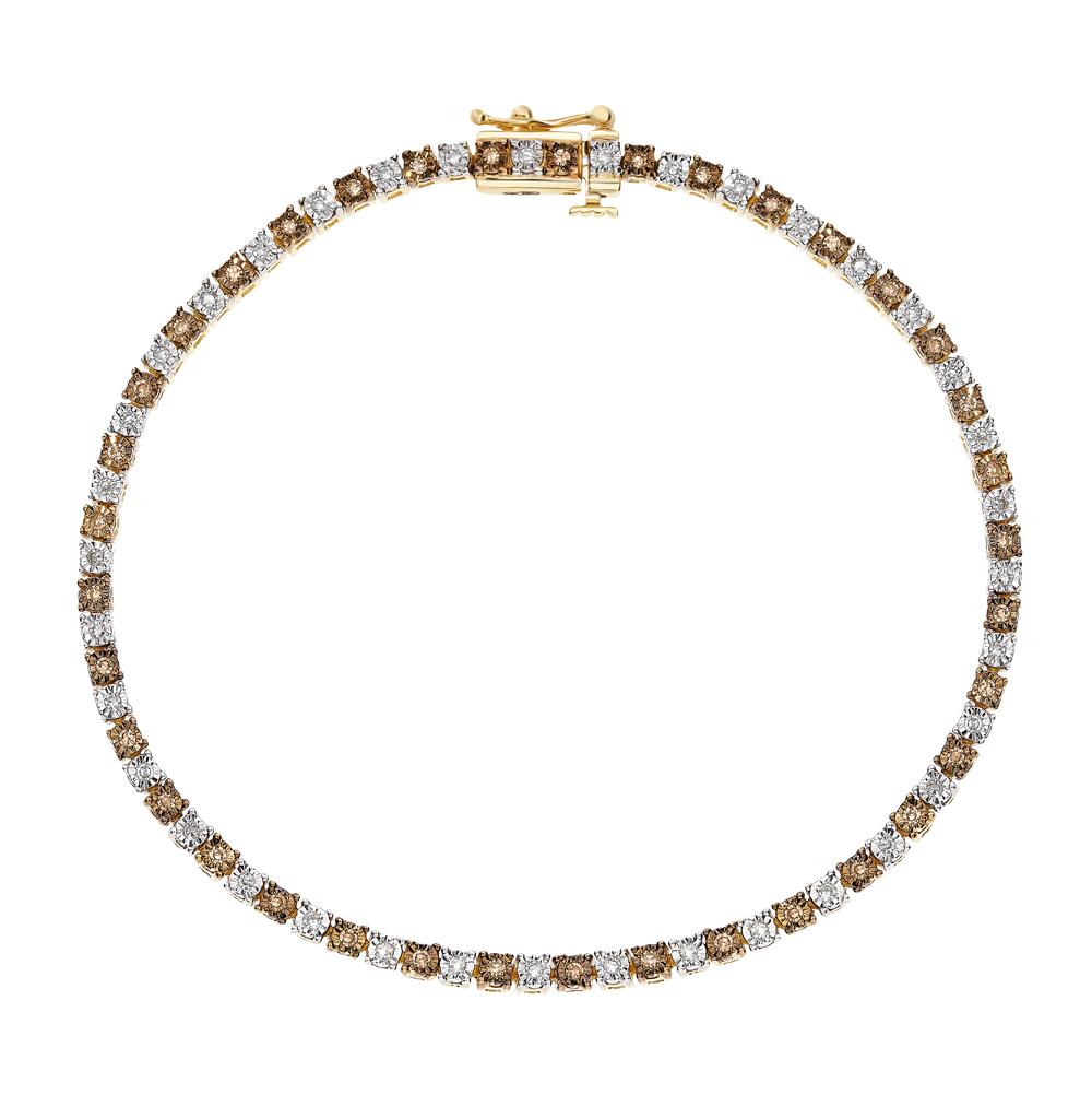Фото «Золотой браслет с коньячными бриллиантами»