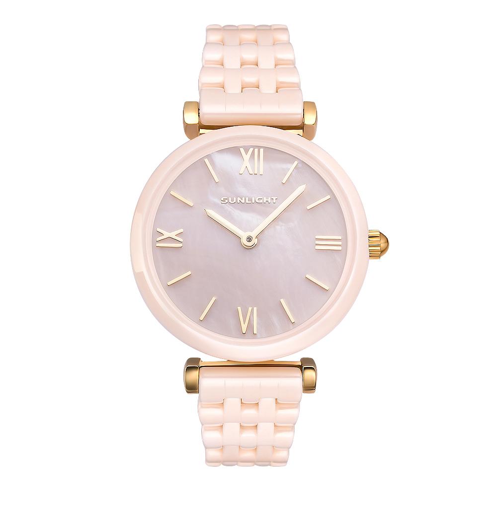 Фото «Керамические женские часы с перламутром на керамическом браслете»