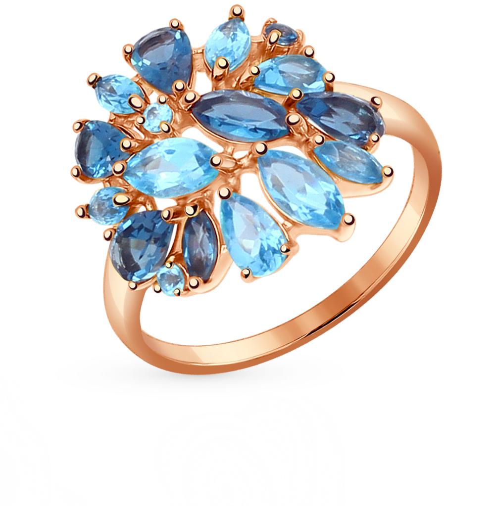 золотое кольцо с топазами SOKOLOV 714374*
